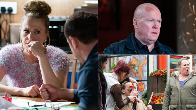 Linda, Mick, Phil, Tina, Billy and Karen in EastEnders