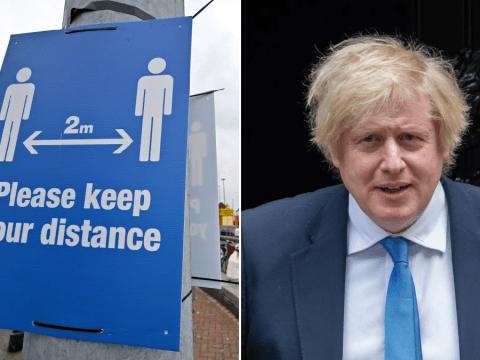 Boris Johnson could announce 'one metre plus' rule next week