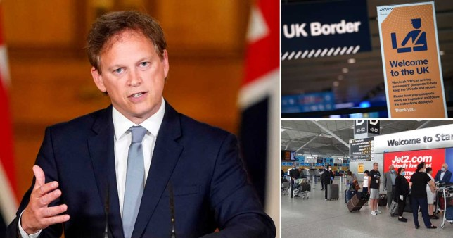 Air bridges could be announced by end of this month, transport secretary says