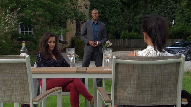 Al, Priya and Manpreet in Emmerdale