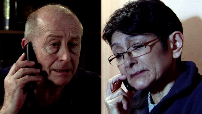 Yasmeen and Geoff in Coronation Street