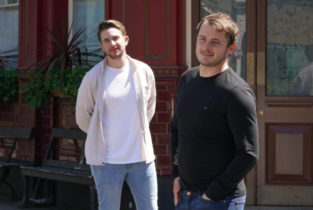 Max Bowden and Tony Clay in EastEnders