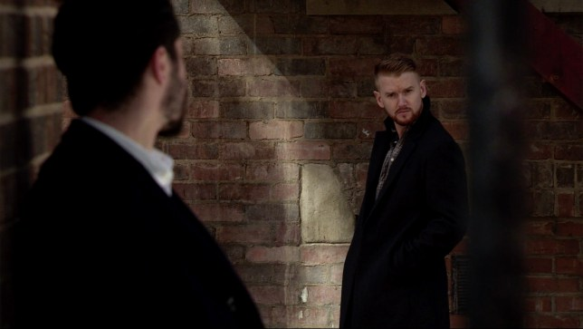 Gary and Adam in Coronation Street