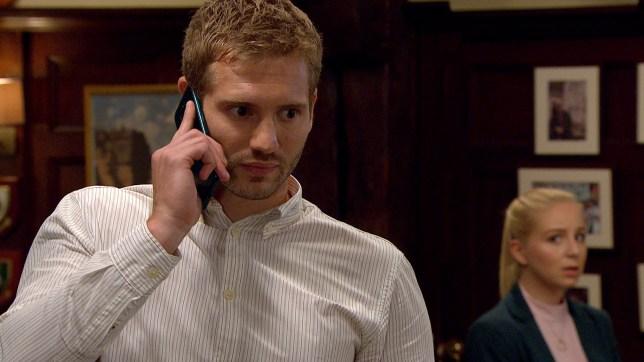Jamie is annoyed in Emmerdale