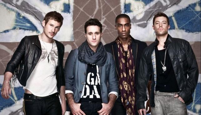 Television programmes: Eurovision Song Contest. Blue (Lee Ryan, Antony Costa, Simon Webbe & Duncan James) COPYRIGHT: BBC