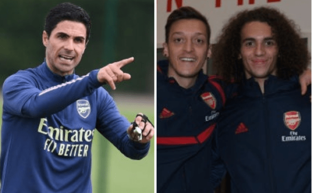 Mesut Ozil and Matteo Guendouzi have been dropped by Arsenal manager Mikel Arteta