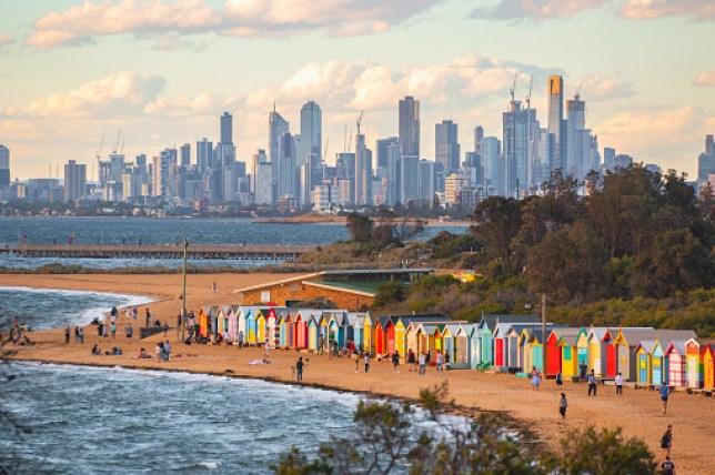 Melbourne Skyline de la baie