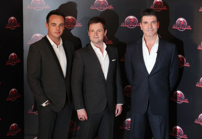 Ant McPartlin, Declan Donnelly and Simon Cowell