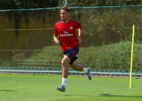 William Saliba in Arsenal Training Session