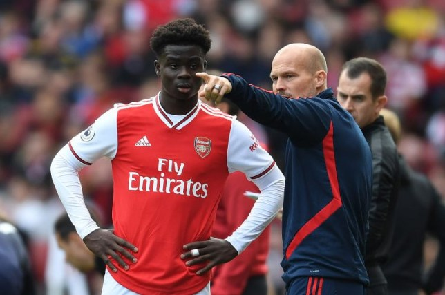 Arsenal star Bukayo Saka v AFC Bournemouth  - Premier League