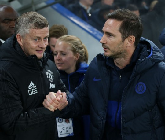 Ole Gunnar Solskjaer et Frank Lampard, dirigeants de Manchester United et de Chelsea
