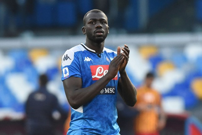 Kalidou Koulibaly of SSC Napoli during the Serie A match between SSC Napoli and US Lecce at Stadio San Paolo Naples Italy on 9 February 2020.