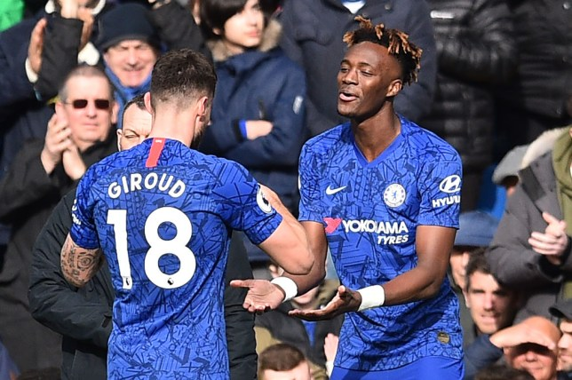 Olivier Giroud and Tammy Abraham