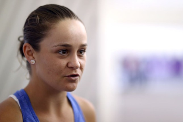 Ashleigh Barty of Australia speaks to the media during Day 1 of the WTA Qatar Total Open 2020 at Khalifa International Tennis and Squash Complex on February 23, 2020 in Doha, Qatar.
