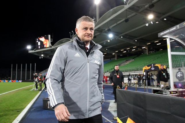 Ole Gunnar Solskjaer looks on ahead of Manchester United's Europa League last-16 tie with LASK