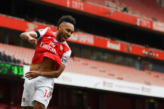 Pierre-Emerick Aubameyang fired Arsenal in front against Norwich City