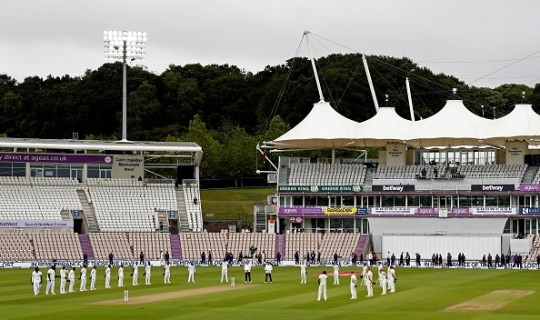 A minute's silence was observed at the Ageas Bowl
