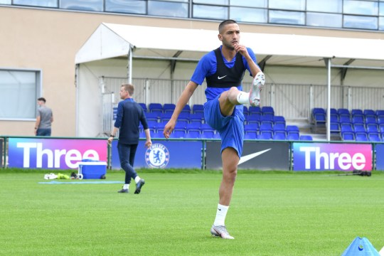 Ziyech trained in Cobham for the first time on the weekend