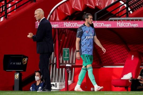Gareth Bale Zinedine Zidane Granada v Real Madrid - La Liga Santander