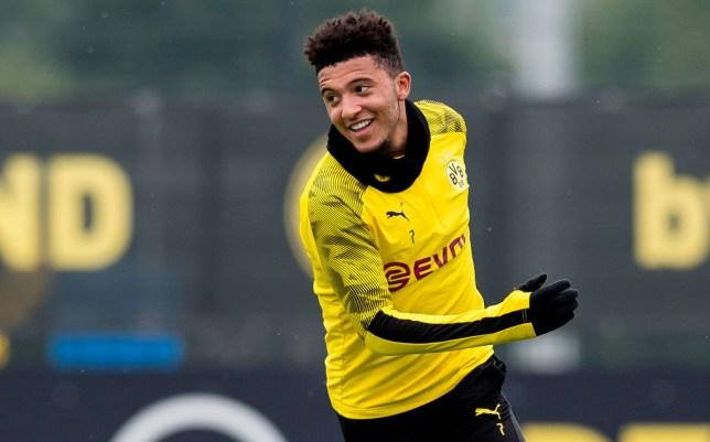 Manchester United transfer target Jadon Sancho of Borussia Dortmund is seen during a training session of Borussia Dortmund on June 10, 2020 in Dortmund, Germany.