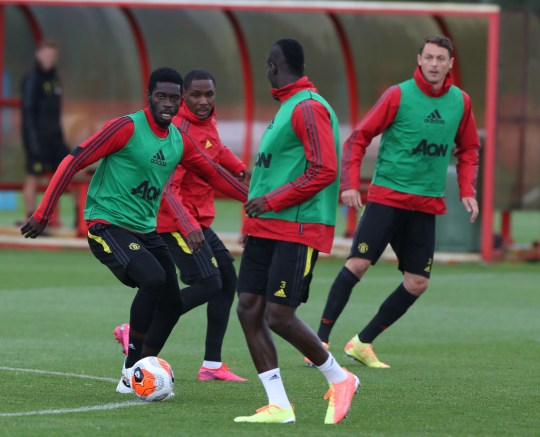 Axel Tuanzebe during Manchester United Training Session