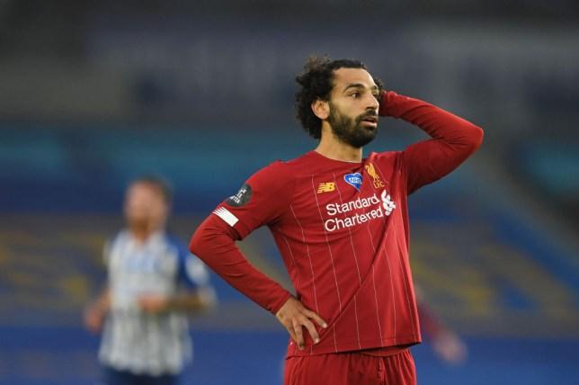 Liverpool star Mohamed Salah against Brighton