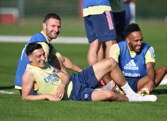 Mesut Ozil Arsenal Training Session