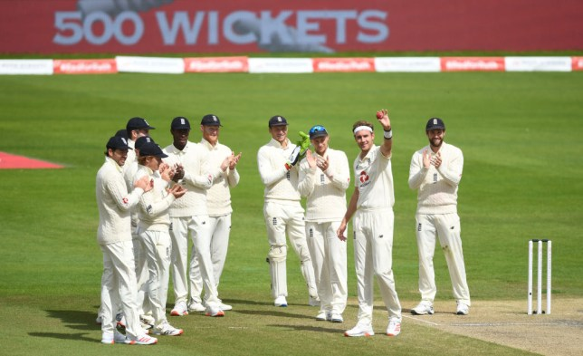 Stuart Broad helped England secure a series-clinching victory over West Indies