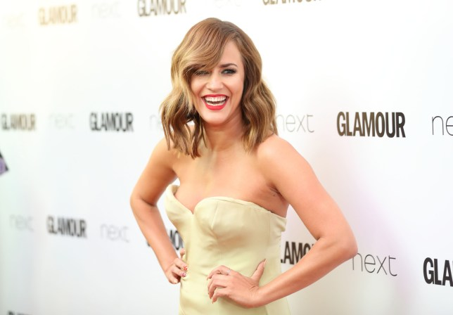 Caroline Flack on the red carpet.