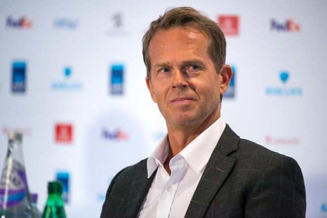 Stefan Edberg at the conference to present the ATP Next Gen...