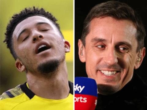 Gary Neville suggests Manchester United should sign Ismaila Sarr as Jadon Sancho alternative