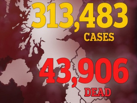 Coronavirus death toll approaching 44,000 after another 176 die