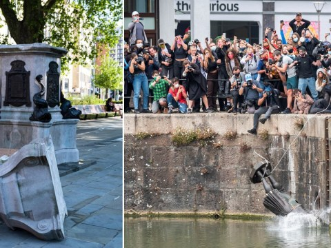 Man, 24, arrested after statue of slave trader Edward Colston was torn down in Bristol