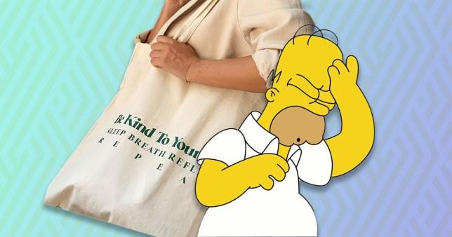 ASOS bag and homer simpson