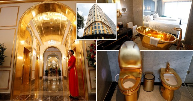 gold plated hotel in vietman