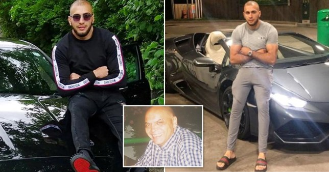 Colin Olawum and drug driver Rizwan Ali posing with luxury cars. Rizwan Ali ran him over in a Range Rover on Topp Way in Bolton on August 18, 2018