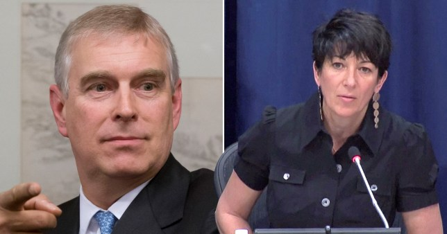 Prince Andrew, the Duke of York (left) and British socialite and ex-girlfriend of Jeffrey Epstein Ghislaine Maxwell