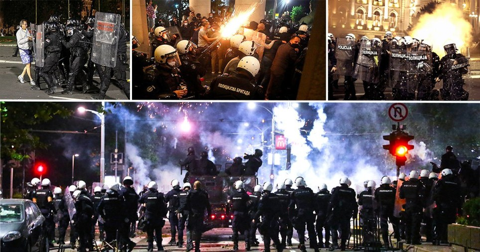 Thousands of protesters clash with police in Belgrade over threat of second lockdown