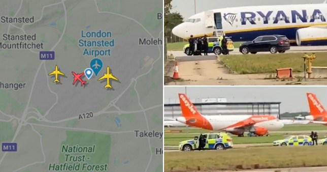 A Ryanair flight has had to make an emergency landing at Stansted following a 'security alert'.