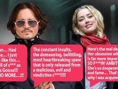 Johnny Depp slams Amber Heard for using him in texts calling her 'vindictive c***'