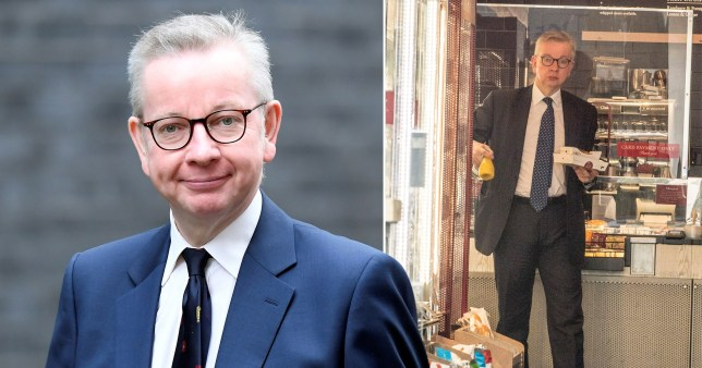 Michael Gove was pictured without a mask in a Westminster Pret despite calling it 'basic good manners' to wear one