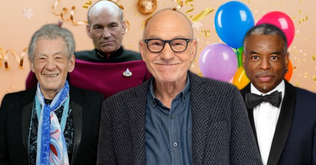 Star Trek stars wish Sir Patrick Stewart a happy birthday