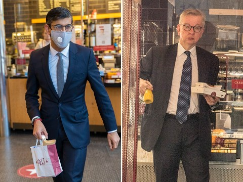 Mass confusion over whether or not people should wear a mask in Pret