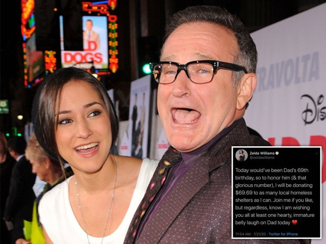 Robin Williams Daughter Zelda Marks His 69th Birthday By Donating To Shelters Metro News