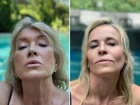 Martha Stewart's hilarious response after Chelsea Handler recreates her sexy pool selfie