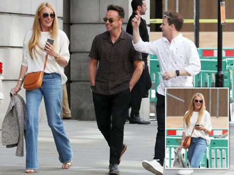 Cat Deeley beams as she reunites with SM:TV Live chums Ant and Dec in London after those revival rumours