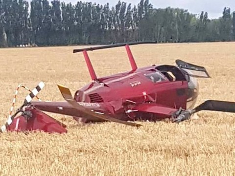 Helicopter carrying 'up to four people' crashes in field in Kent