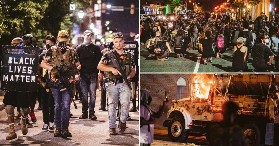 Richmond, Virginia was the scene of unrest for two nights in a row.