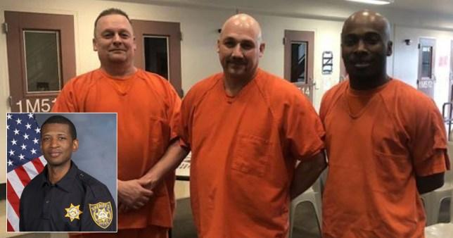 Composite image of Warren Hobbs and prisoners
