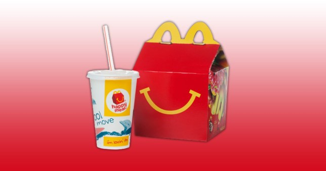 mcdonald's happy meal with drink